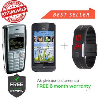 8142cac9d Buy Nokia 1110   C5-03 Get Digital Watch Online - Get 69% Off