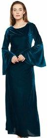 ANB-038 Westchic GREEN VELVET Long Dress