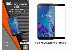 Bajarang 5D Edge To Edge Tempered Glass for Asus Zenfone Max Pro M1 - Black
