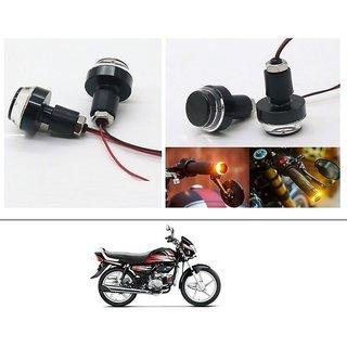 AutoStark 2X Motorcycle DRL/Turn Signal LED Light Blinker Indicator Handle Bar End For Hero HF Deluxe