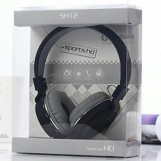 deals e Unique Wireless Bluetooth Headphone SH-12 With FM and SD Card Slot with music and calling controls