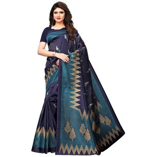 FASHION MADE NEW LOOK KASHAMIRI SILK SAREE PRINTED WITH BLAUSE PIECE UNSTICHED.