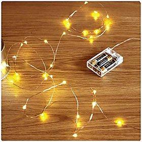 Kartik Beauty Lights Copper String Lights 3 Aa Battery Operated Portable Led String Lights,(5 Meters 50 Led)