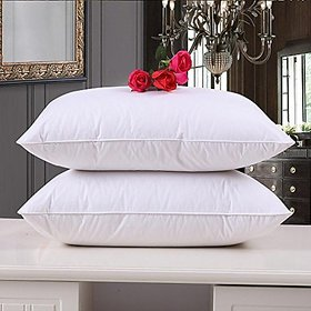 HomeStore-YEP Fiber Dream Pillow - 40 x 61 cm, White, Set of 2 Piece