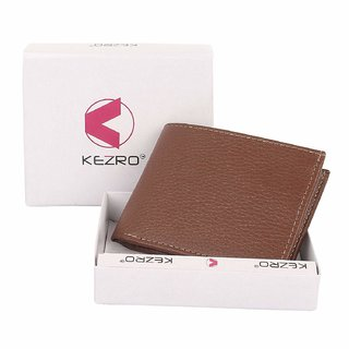 KEZRO Bi-Fold PU Leather Wallets for Men - Mens Wallet with ID Window (Synthetic leather/Rexine)