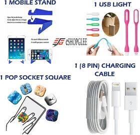 Combo Of 4 In 1 Mobile Accessories (1 Mobile Stand +1 U