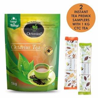 Octavius Premium CTC Assam Black Tea - 1kg (with 2 free Instant Tea Samplers)
