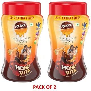 Rasna Native Haat Honey Vita Jar - 600g - Chocolate (450g + 150g Free) Pack of 2
