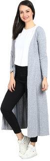 Raabta Grey Long Cardigan For Women