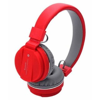 SH-12 Wireless Over the Ear Bluetooth Headphone Headset with FM and SD Card Slot