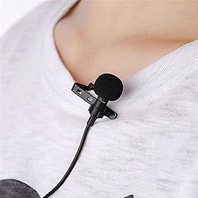 Deals e Unique Clip Microphone Collar Mike 3.5mm For Voice Recording,Youtube Vedio, Lapel Mic Mobile, Pc, Laptop, Camera