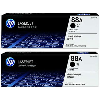 HP 88A 2-Pack Black Toner Cartridge (CC388A) For use HP LaserJet P1005, P1006, P1007, P1008, M1136 MFP, M1213nf MF