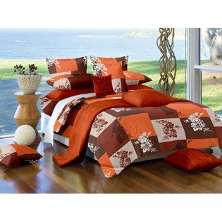 FadNFab  Pure 240 TC 100 Cotton Double Bedsheet with 2 Pillow Covers
