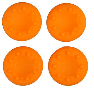 TCOS TECH Silicone Key Protector Thumb Grips Anti-Slip Silicone Cap Cover for PS4 PS3 Xbox One Xbox 360 Controller - Orange (4 Pcs)