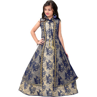 dee6d54930cd Buy Jalaram Partywear Long Frock For Girls (Fone) Online - Get 40% Off