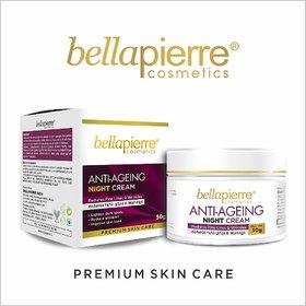 Bellapierre Antiageing Night Cream, Reduces Fine Lines  Wrinkles