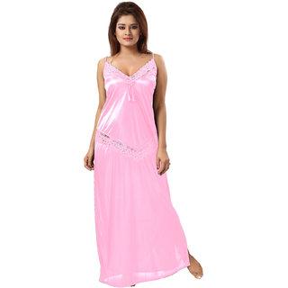 Be You Light Pink Lace Women Night Dress / Nighty