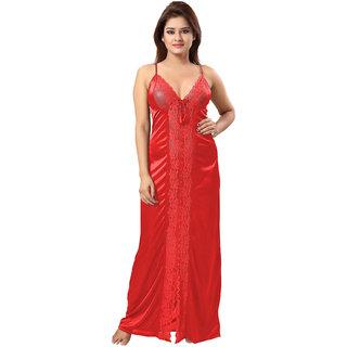 Be You Red Lace Women Night Dress / Nighty