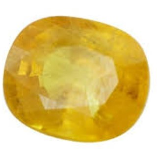 Natural Yellow Sapphire Stone Original Certified Loose Precious Pukhraj 10.50 Ratti
