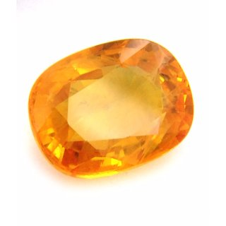 Natural Yellow Sapphire Stone Original Certified Loose Precious Pukhraj 8.50 Ratti