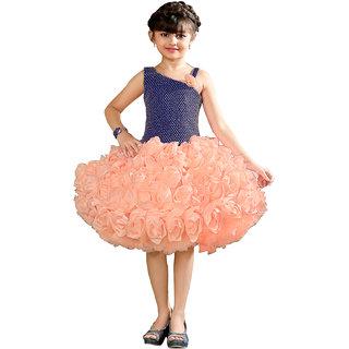 ad1a1fbf4c2e Buy Angel Partywear Short Frocks (Peach) Online - Get 56% Off
