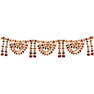 Traditional Beads N Pompom Doorhanging Bandanwar Toran