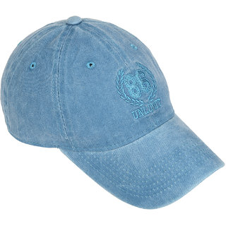 DRUNKEN Mens Washed Cotton Baseball Cap Torquoise Freesize