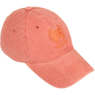 DRUNKEN Mens Washed Cotton Baseball Cap Rust Freesize
