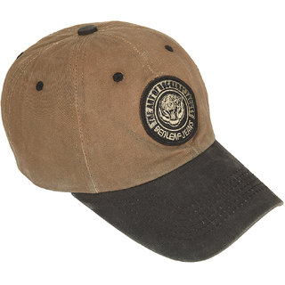 DRUNKEN Mens Washed Cotton Baseball Cap Khaki Freesize