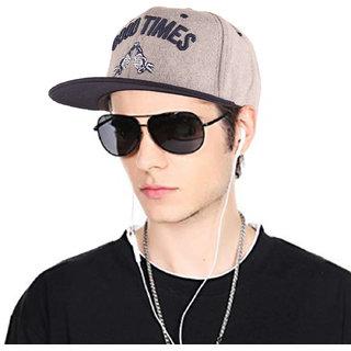 1dd771ac 6%off DRUNKEN Mens Winter Cap Good Times Fleece Snapback Hip Hop Cap Light  Grey Freesize Warm Cap