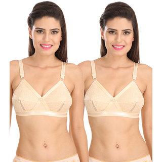 84e4b471d Buy Sona Women S Delicate Super Everyday Plus Size Cotton Bra- Full  Coverage Non Wired