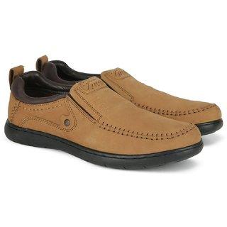 29e269ec2f7 Buy Lee Cooper Men s Camel Leather Loafers LC2219 Online   ₹2199 ...