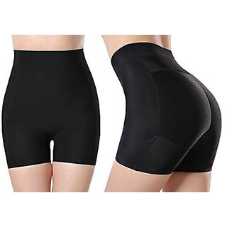 Favourite Deals Women's High Waist Shapewear Shorts Tummy Control Thigh Slimmer Panty (Black)