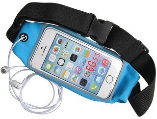 De-TechInn Pouch for Gym Waterproof Running Belt For All Smart phones Sports Waist Bag Waist With Adjustable Belt