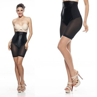 Favourtie Deals Women's Shaping Micro Reversible Midthigh slimmer (Black)