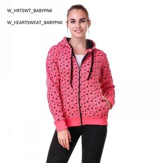 Women Peach Heart Sweatshirt