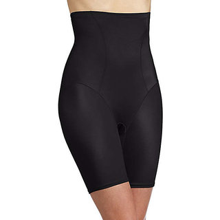 Favourite Deals Shaper Girdle Pants High Waist Shorts Slim Body Lift Shape (Black)