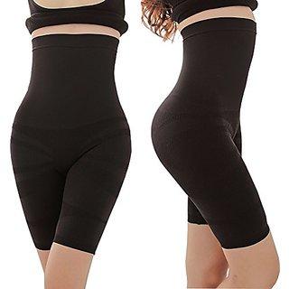 Favourite Deals Seamless Lingerie High Waist Slimming Waist Leg Soft BuLifter Lace Body Shaper Shapewear (Black)