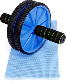 STAYFiT Double Wheel Roller Ab Exerciser (Multicolor)