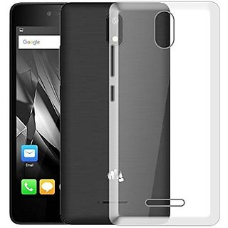 free shipping 04612 d6f90 Transparent Soft Back Cover For Micromax Canvas Spark 4g(2017) Q409