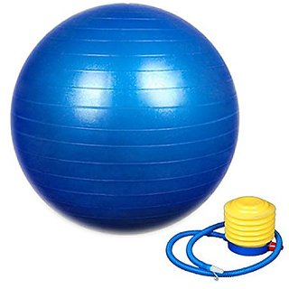 WOLPHY ANTI BURST GYM BALL WITH PUMP (65 MM)