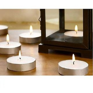 right traders 100 Pcs White Tea Light Candles for Wedding Party