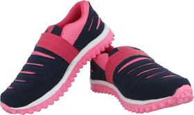 A-Stars Blue-Pink Walking / Running Shoes For Women (Pink, Blue)