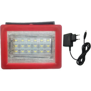 X-EON Model 786 LED Rechargeable Emergency Light 18 SMD with Handle long lasting with Charger - Model 786 - Red