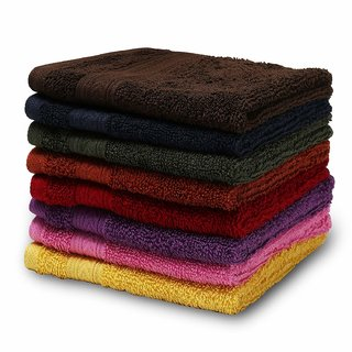 Global Multicolor Cotton Face Towels (Set of 6)