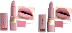 Miss Rose Set Of Two New Hot Creamy Ultra Soft Waterproof Matte Lipstick