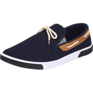 hotstyle Stylish Men's Canvas Slip on Brown Casual Sneakers