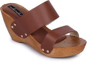 Funku Fashion Brown Wedges Heels