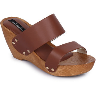 Funku Fashion Brown Wedges Heels
