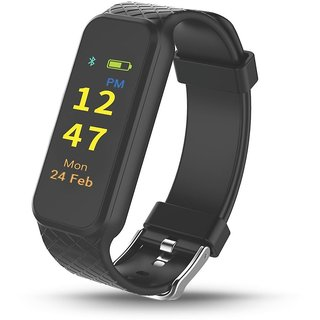 Portronics POR-799 Yogg HR Smart Fitness Tracker with Heart Rate Monitor Detachable Touch Sensitive Screen to improve